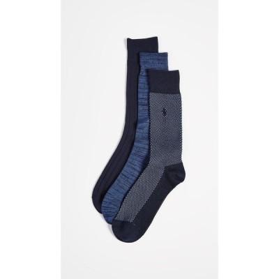 ラルフ ローレン Polo Ralph Lauren メンズ ソックス 3点セット インナー・下着 3 pack supersoft birdseye socks Navy