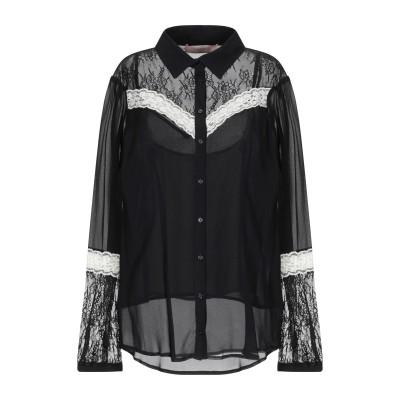 ツインセット シモーナ バルビエリ TWINSET シャツ ブラック 40 レーヨン 100% / ナイロン / ポリウレタン シャツ