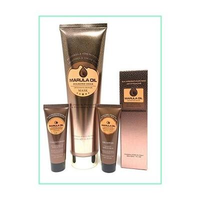 Nuspa Marula Oil Diamond Edge Conditioner, Shampoo, Treatment Mask and Spray Set - Ultra Rich Care, Color Safe with Long Lasting Shine, Tangle and Fri