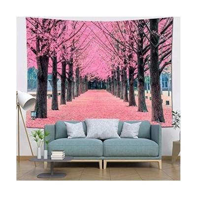 Dekori タペストリー 壁掛け 桜の並木 桜溢れの小道 インテリア おしゃれ 壁飾り 多機能壁掛け キレイな背景布