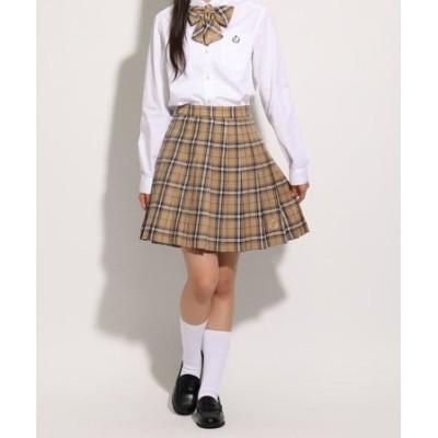 【卒服】リボン付 チェックプリーツスカート