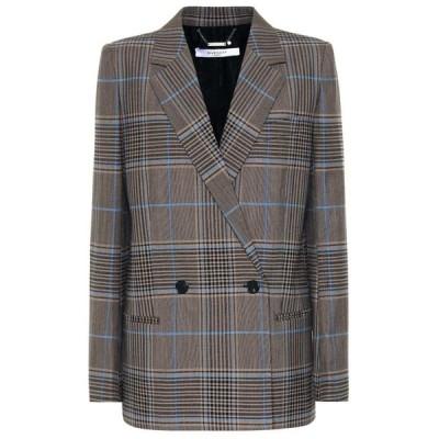 ジバンシー Givenchy レディース スーツ・ジャケット アウター Checked Blazer Blue/Beige