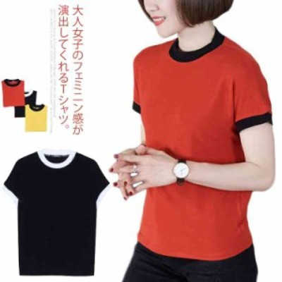 女性の上品さを演出する Tシャツ カットソー 半袖 レディース トップス 大きいサイズ ゆったり シンプル エレガント 大人女子