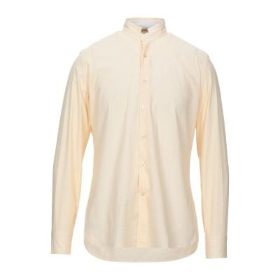 DOMENICO TAGLIENTE シャツ イエロー 41 コットン 97% / ポリウレタン 3% シャツ