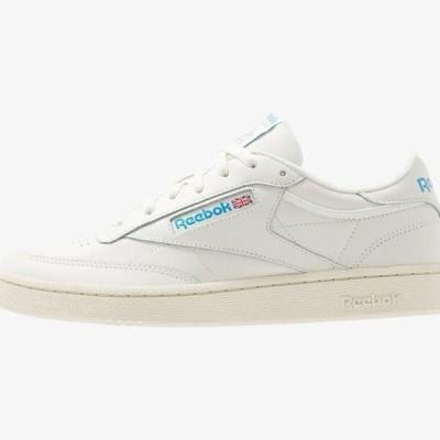 リーボック メンズ 靴 シューズ CLUB C 85 - Trainers - chalk/paperwhite/cyan