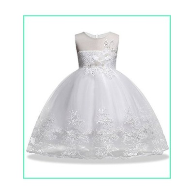 Flower Girl Dresses Holiday Celebration Bridesmaid Sleeveless Toddler Princess Children Lace Puffy Tutu Ball Gown Size 6-7 Graduation Special Occasion