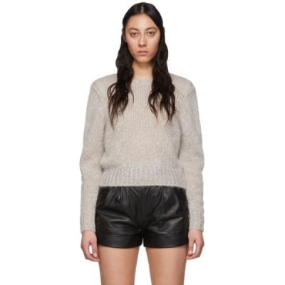 イザベル マラン Isabel Marant レディース ニット・セーター トップス Grey Mohair Idona Crewneck Sweater Light grey