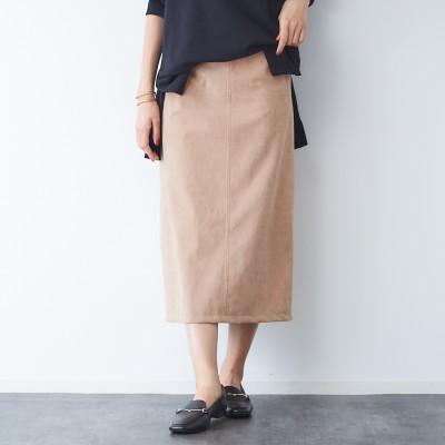 Rouge vif(ルージュ・ヴィフ)/スエードタイトスカート