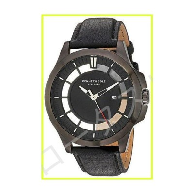 Kenneth Cole New York Men 's ' TRANSPARENCY ' QuartzステンレススチールandレザーDress Watch, Color : Black (Model : 10029297?)