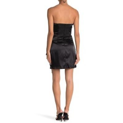 ドゥ アンド ビー レディース ワンピース トップス Draped Strapless Mini Dress BLACK