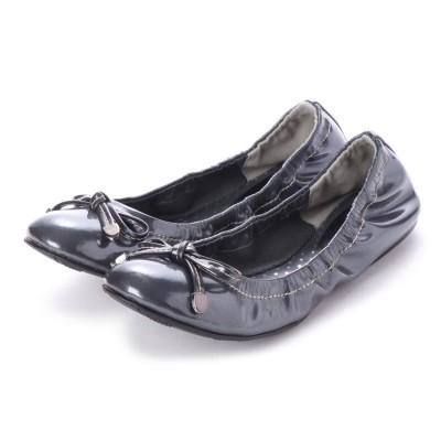 シューズラウンジ アウトレット shoes lounge OUTLET 晴雨兼用フラットシューズ 31T1104ET (ガンメタ)