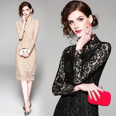 【セール】パーティードレス 大きいサイズ WE 結婚式ドレス パーティドレス ドレス プリーツ Aライン 体型カバー 大人 シンプル リボンドレ