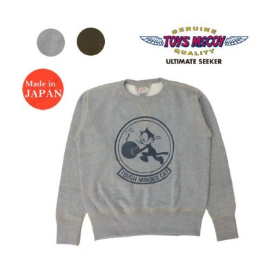 "トイズマッコイ TOYS McCOY 長袖 スウェット フィリックス MILITARY SWEAT SHIRT FELIX THE CAT ""TOUGH MINDED CAT"" TMC2060"