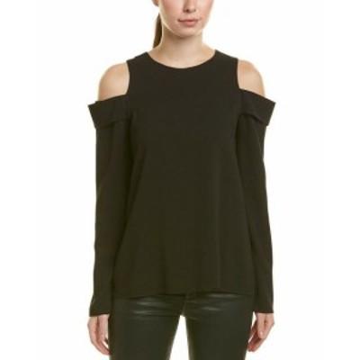 Tibi ティビ ファッション トップス Tibi Savanna Silk-Lined Top 0 Black