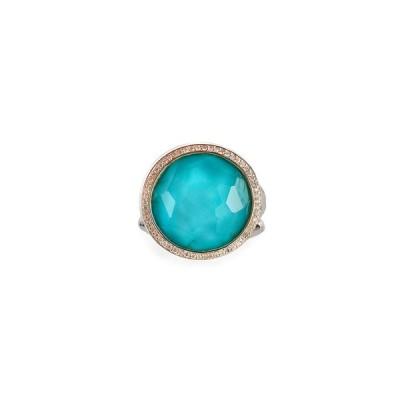 イッポリスタ レディース 指輪 アクセサリー Stella Lollipop Ring in Turquoise Doublet with Diamonds, 0.23