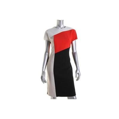ドレス ワンピース Anne Klein Anne Klein 3176 レディース カラーblock Knee-Length Wear to Work ドレス BHFO
