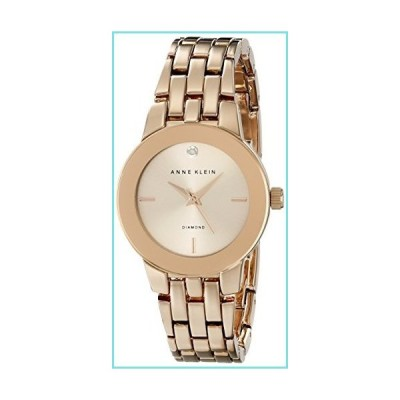 Anne Klein Women's AK/1930RGRG Diamond-Accented Dial Rose Gold-Tone Bracelet Watch【並行輸入品】
