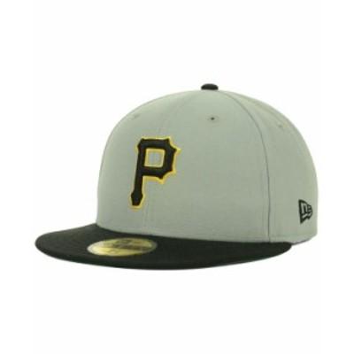 ニューエラ メンズ 帽子 アクセサリー Pittsburgh Pirates MLB Cooperstown 59FIFTY Cap Gray/Black