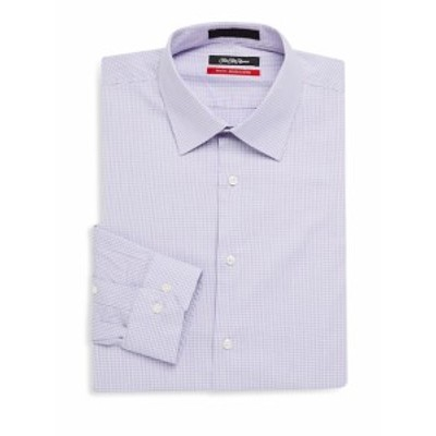 サックスフィフスアベニュー Men Clothing Textured Windowpane Button-Down Shirt