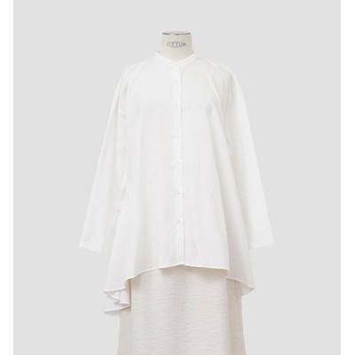 【マーコート/MARcourt】 mizuiro ind バンドカラーフレアーシャツ