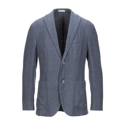 ボリオリ BOGLIOLI テーラードジャケット ブルーグレー 54 シルク 55% / ウール 45% テーラードジャケット