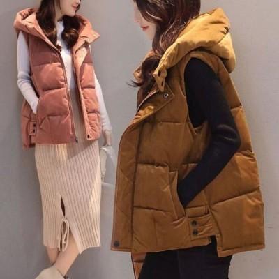 ベスト レディース 中綿コート おしゃれ アウター 暖かい 冬物 防寒 中綿ベスト 上着 ジャケット 防風 ショートベスト