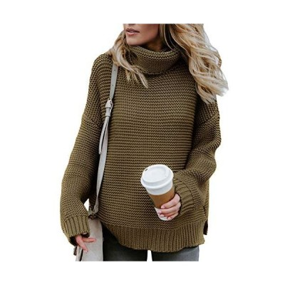 Aleumdr Womens High Neck Long Sleeve Slim Fit Chunky Fall Pullover Sweaters
