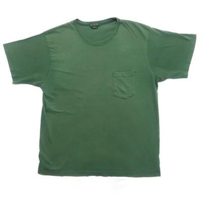 USA製 J.CREW 無地 ポケット Tシャツ グリーン サイズ表記:XL