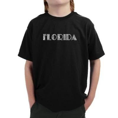 ユニセックス スポーツリーグ モータースポーツ LA Pop Art Boy's Word Art T-shirt - POPULAR CITIES IN FLORIDA