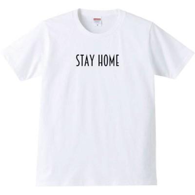 【送料無料】【新品】stay home(細)Tシャツ ホワイト S〜XL