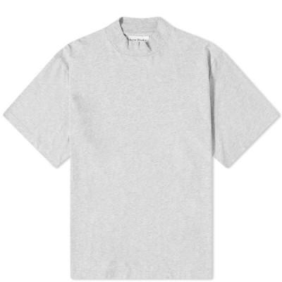 アクネ ストゥディオズ Acne Studios メンズ Tシャツ トップス esco pink label mock neck tee Pale Grey Melange