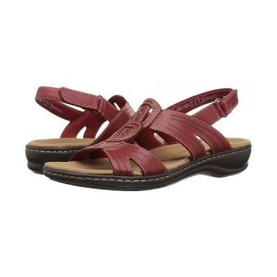 Clarks クラークス レディース 女性用 シューズ 靴 サンダル Leisa Vine - Red Leather