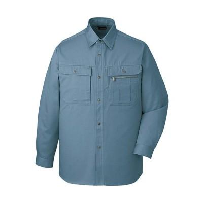 自重堂 長袖シャツ 082/ミストブルー ELサイズ 41604 作業着 仕事着 作業服 ワークウェア トップス メンズ