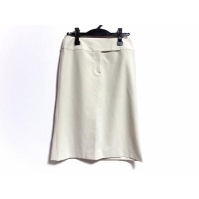 バーバリーロンドン Burberry LONDON スカート サイズ38 L レディース 美品 - アイボリー ひざ丈【還元祭対象】【中古】20200728