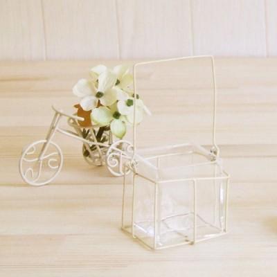 ガラス製品 インテリア 雑貨 置物   ワイヤーベースBOX1個