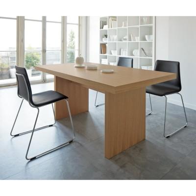 Multi マルチダイニングテーブル パネルレッグタイプ 幅160cm ウォルナット