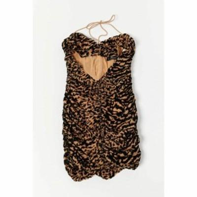 ライオネス Lioness レディース ワンピース バンドゥ ミニ丈 ワンピース・ドレス The Georgie Bandeau Mini Dress Brown