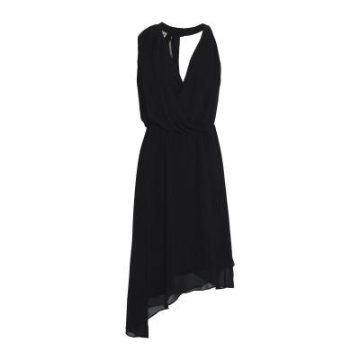 HAUTE HIPPIE ミニワンピース&ドレス ブラック XS ポリエステル 100% ミニワンピース&ドレス