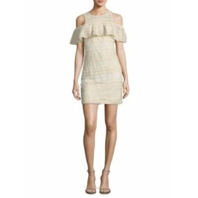 パーカー レディース ワンピース Eleni Cold Shoulder Lace Sheath Dress