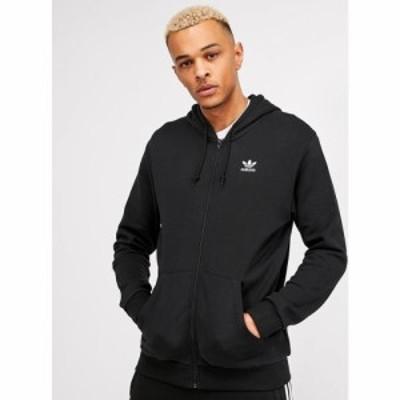 アディダス adidas Originals メンズ パーカー トップス Essential Full Zip Hoodie Black/White