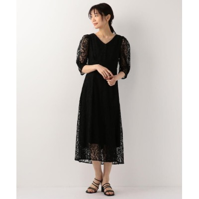 【ミューズ リファインド クローズ】 美ラインバックシャンレースワンピース レディース クロ M MEW'S REFINED CLOTHES