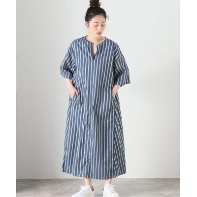 レディース ボイスフロムベイクルーズ 【TICCA / ティッカ】TBAS-133 キーネックロング ドレス ブルー フリー