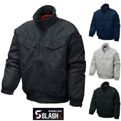 SLASH 防寒ブルゾン ジャケット M〜4L かんたん刺繍申込み 中綿 シンメン 6200 ジャンパー 防寒着 防寒服 作業服 作業着 安い