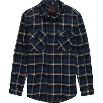 ストイック Stoic メンズ シャツ トップス Plaid Twill Long-Sleeve Button-Up Shirt Navy