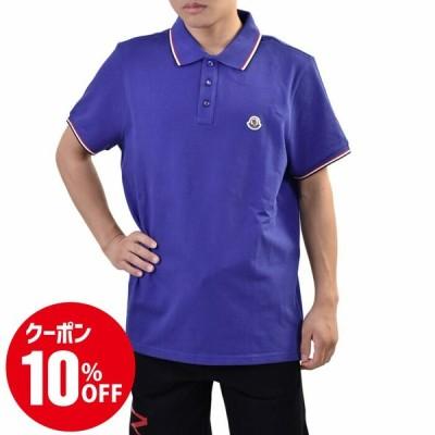 モンクレール 半袖 ポロシャツ MONCLER MANICA CORTA 8A70300 84556 774 ブルー メンズ