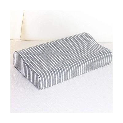 枕カバー 綿100% ニット素材 滑らか 柔らかい ブラウン 色褪せない 防ダニ 抗菌 防臭 (「低反発枕とジェル枕に対応」カバー) 60*35*9~