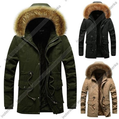 モッズコート メンズ ミリタリージャケット 裏ボア 裏起毛 裏ボアコート 防寒着 中綿コート ファー付き フード付き アウター 秋 冬 ジャンパー アウトドア