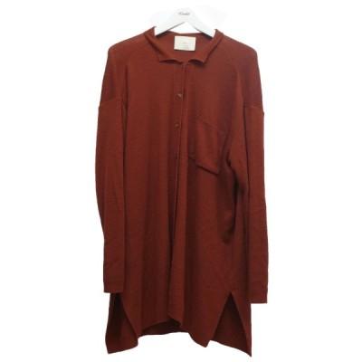 【12月7日値下】TAN 16AW ニットシャツ バーガンディー サイズ:F (中目黒店)