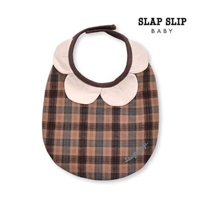 SLAP SLIP/スラップスリップ/チェック柄 花びら スタイ/新生児/ベビー/2021AW/1834-36083