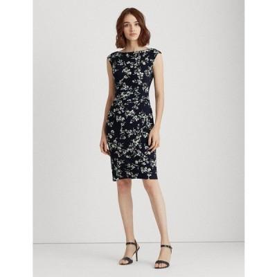 ラルフローレン ワンピース トップス レディース Floral Boatneck Dress Navy Multi